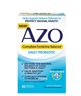 AZO Complete Feminine Balance Women's Daily Probiotic   Clinically Proven to   7