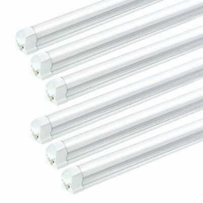 24 Pack JESLED 72W T8 Integrated 8FT LED Tube Light Bulbs 6500K 7200LM Milky