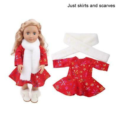 Fashion Christmas Suit For 18 inch Girl Doll Clothes G9Y7