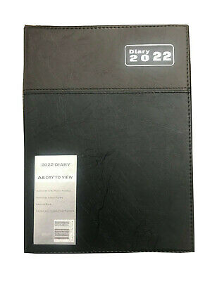 2020 Financial Year Diary  A5 Day to A Page BLACK BROWN Diary2020