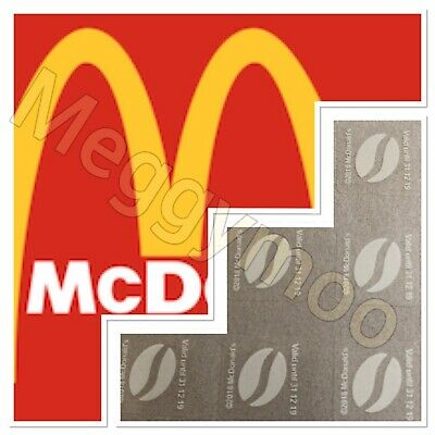 300 X McDonalds Coffee Bean Loyalty Stickers McCafe 31/12/19 expiry date