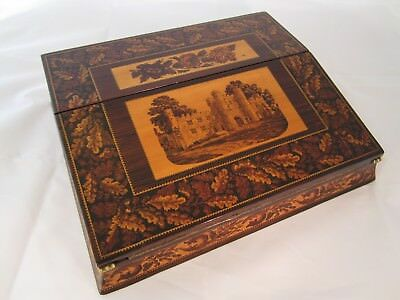 Antique Victorian Tunbridge Ware Lap Desk by Henry Hollamby c.1870