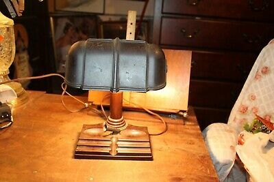 Antique Mid-Century Desk Reading Lamp Bakelite Atlas Consolidated Corp USA Works