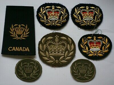 CANADIAN ARMY WARRANT Officer Class 1 WO Patch Pair WWII (B