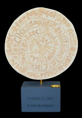 Phaistos disc Alabaster Sculpture Museum Reproduction Palace of Knossos Minoans