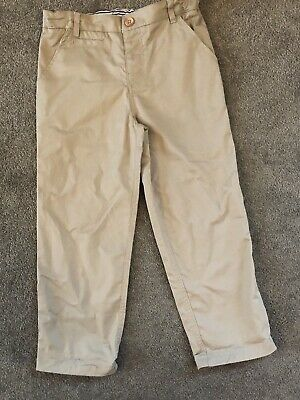 Boys The White Compony Beige Chino Trousers Age 3-4
