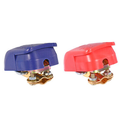 Quick Release Battery Clamp Connectors Quick Disconnect Terminal Red Blue 1Pair