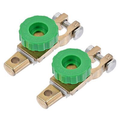 Battery Terminal Master Disconnect Switch with Knob 15-17mm Diameter Copper 2Pcs