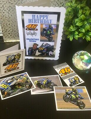 Valentino Rossi Moto GP Birthday Card STUNNING NEW DESIGN
