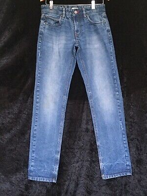 Mens Boys Blue Jeans By VINTAGE Division Slim Fit Size 30""