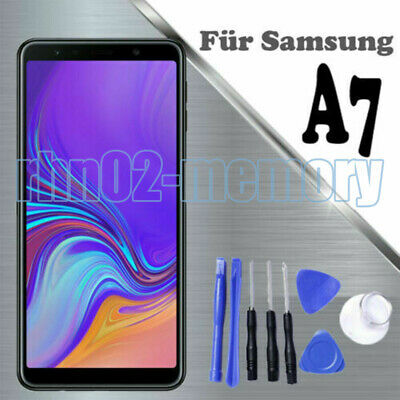 Per Samsung Galaxy A7 2018 SM-A750FN LCD Display Touch Screen Vetro Schermo RHN