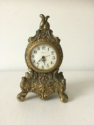 Vintage Gilt Spelter Blessing Clock