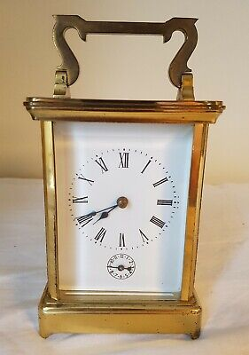 Antique French Repeat Carriage Clock Lever Escapement 8 Day Repeater Striking