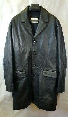 The Keenan Leather Company Men's Black Leather Coat Large