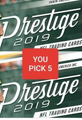 YOU PICK 5 2019 Prestige Football Complete Your Set Base Rookie Inserts
