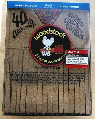 Woodstock: Three Days of Peace Music (Blu-ray Disc, 2009, 40th Anniversary