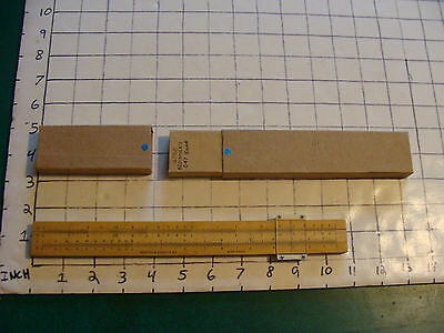vintage Slide Rule: 4058 family: boxwood beginner's  in hand made box no s.n.