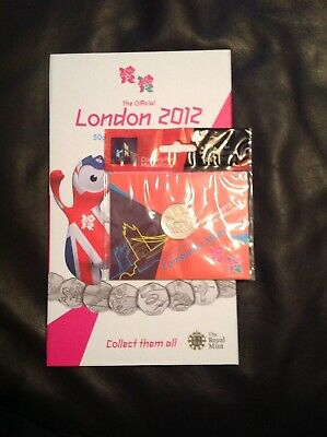 Olympic 50p full set London 2012 official royal mint album completer medallion