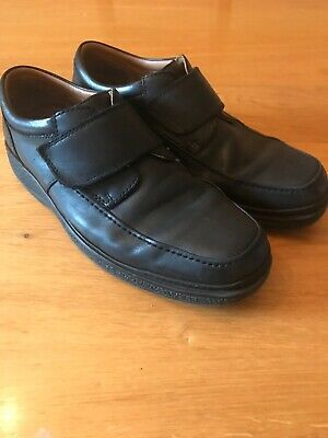CLARKS Stonehill Pace Mens Black Leather Wide Fit Lace Up Shoe