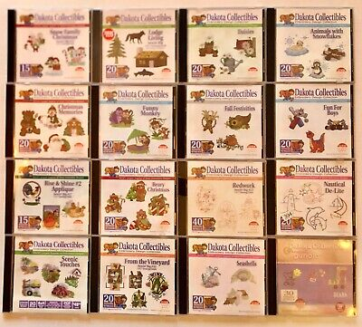Lot of 16 CD-ROMs - DAKOTA COLLECTIBLES - Embroidery Design Collection