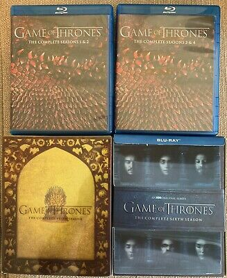 Game of Thrones Blu-ray Sets - Seasons 1, 2, 3, 4, 5, & 6 (HBO) - No Reserve