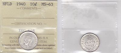 1940 ICCS MS63 10 cents Newfoundland NFLD dime silver SOLE HIGHEST GRADE on eBay