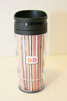 DUNKIN DONUTS Travel Mug Blue Tumbler Hot Cold Beverage