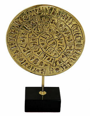 Phaistos disc sculpture museum reproduction - Palace of Knossos - Minoan period