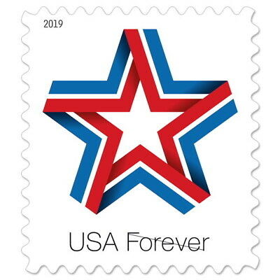 USPS Forever 1st Class Postage Stamps 'Star Ribbon' Sheet of 20