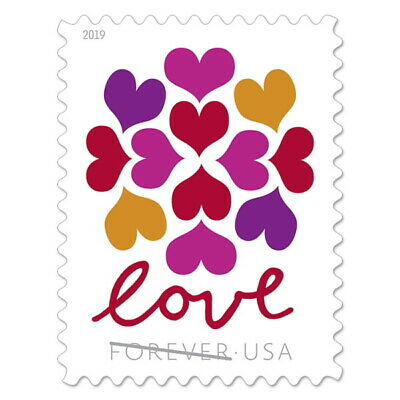 USPS Forever 1st Class Postage Stamps 'Hearts Blossom / Love' Sheet of 20