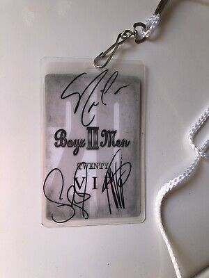 Boyz II Men VIP Lanyard Autograph Signed By All 3 Members
