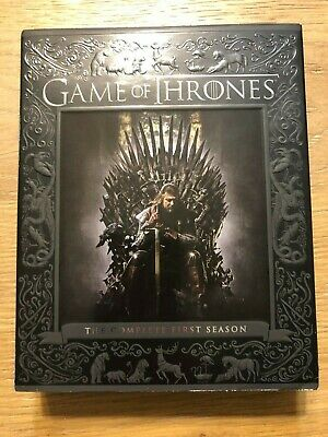 Game of Thrones: The Complete First Season Gift Box Blu-ray Disc, 2014, 5-Disc