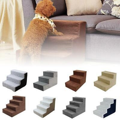 Pet Step 3 Or 4Steps Dog Cat Stairs Ladder Climb Ramp W/Cover For Couch Or Bed