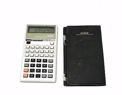 Vintage CASIO BF 100 Electronic Calculator Plus Cover Maths Accounts Collectab