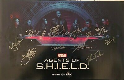 SDCC 2019 Cast Signed AGENTS of SHIELD Exclusive Poster Marvel Avengers