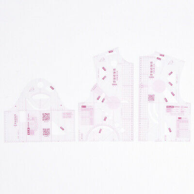 1:3 Transparent Women Cloth Design Ruler Template Clothing Prototype Sewing Tool