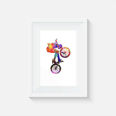 Bmx trick, print, poster, prints, posters, wallart, bedroom, art, gift, party