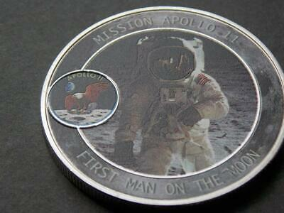 1969 Apollo 11 Moon Landing 50th Anniversary  Silver plated Coin Gemini C