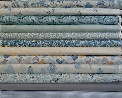 Woodland GROVE trees,animals cotton fabric Makower, Various lengths,Sewing Craft