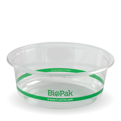 550 x BioPak Clear Wide Bowls 630ml | Not Plastic Biodegradable Eco Takeaway