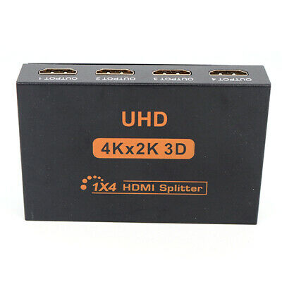1080P Ultra HD 4K 4 Port HDMI Splitter 1x2 1x4 Repeater Amplifier 3D 1 In 4 Out