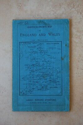 Antique Bartholomew's Map of New Forest & Isle of Wight, c1908