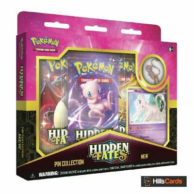Hidden Fates Pin Collection Box - Mew | Pokemon Trading Card Game | New & Sealed