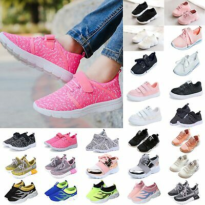 Toddler Kids Lace Up Sport Tennis Sneakers Girl Running Trainer Breathable Shoes