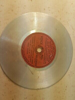 "Vintage 5"" aluminium disc recording. Unknown source."