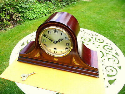 Mantle clock Restored W. minster chime. Napoleon Hat 20s 1930s with original key