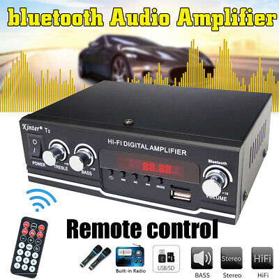 Black BT Power Music Stereo Receiver Home Audio Amplifier
