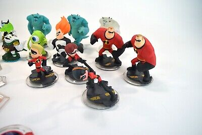 Disney Lot Infinity Figures Accessories Cars Monsters Inc Pirates Incredibles