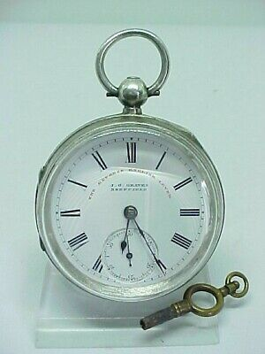 Beautiful Antique J.g Graves Sheffield Solid Silver Pocket Watch