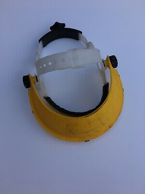 Safety Visor Browguard, Yellow Plastic, Clearance Sale Item